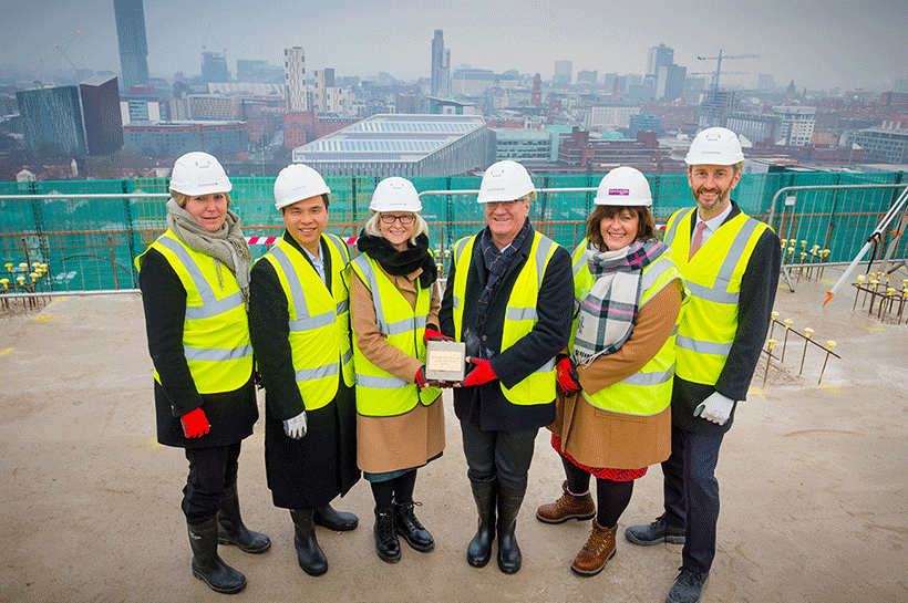Hotel topping out