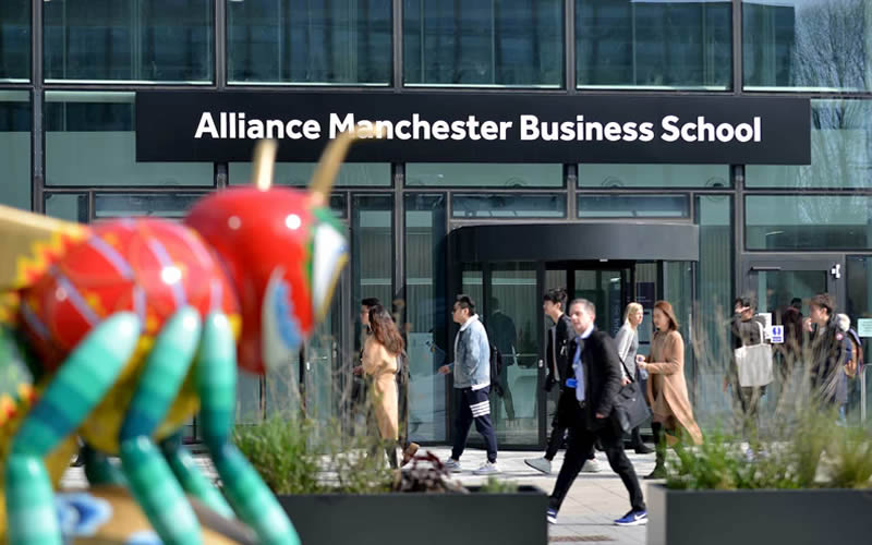 Alliance MBS main entrance featuring Beejing the bee