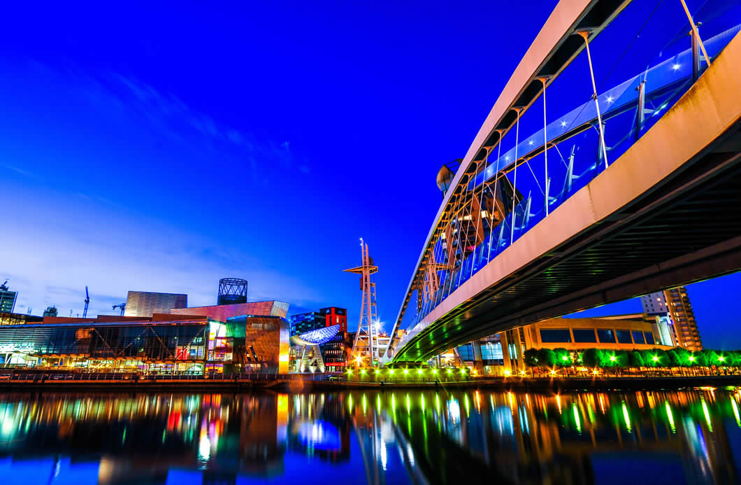 Salford Quays footbridge
