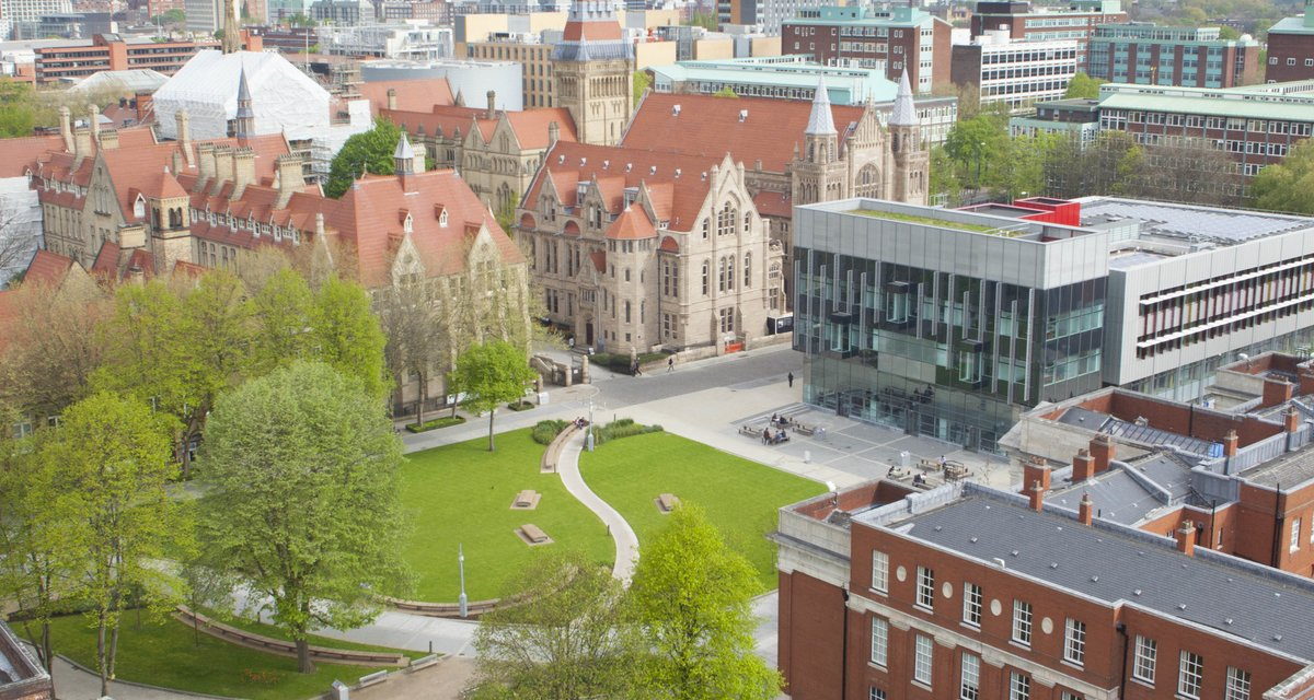 University of Manchester learning commons aerial view
