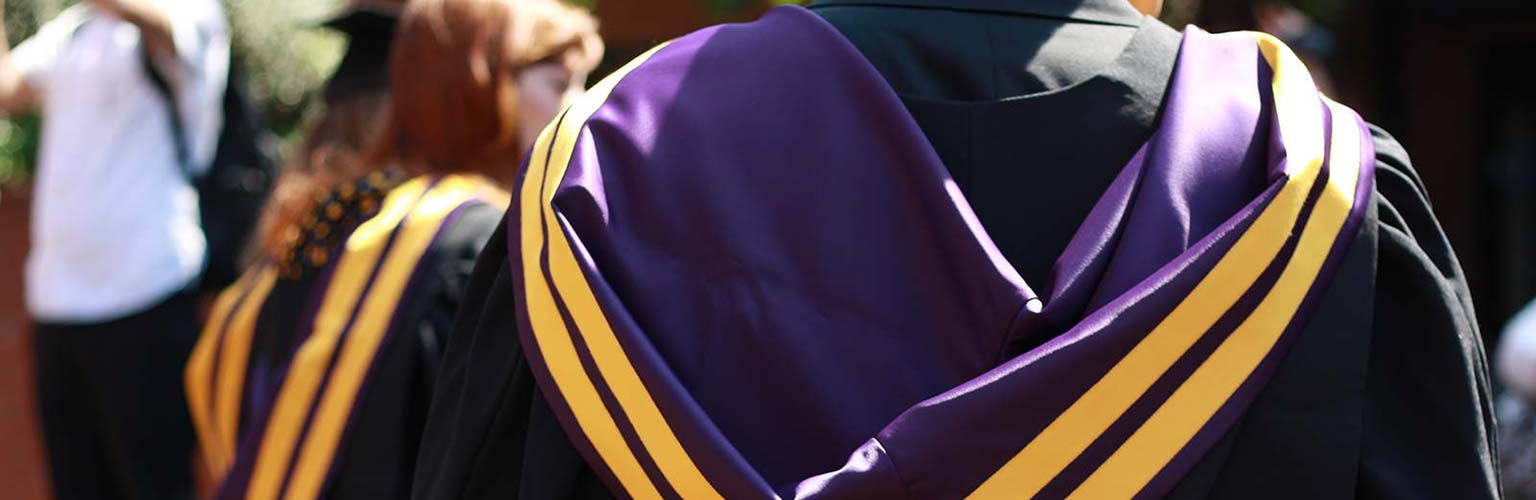 Rankings and accreditation - graduation gown