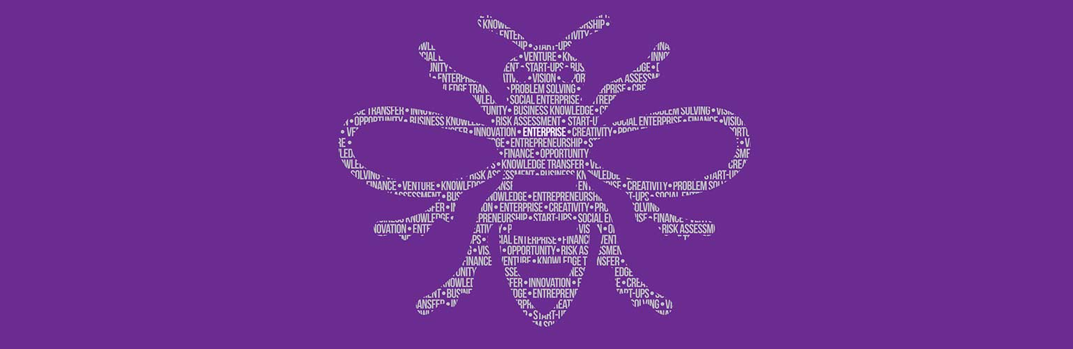 Manchester Enterprise Centre word bee purple - main