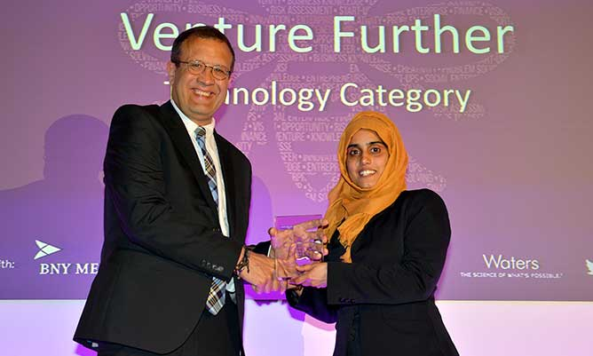 Venture Further winner 2019 Beenish Siddique