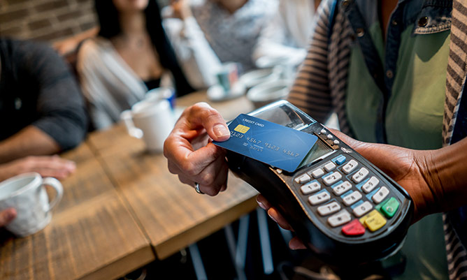 contactless payment card reader credit card