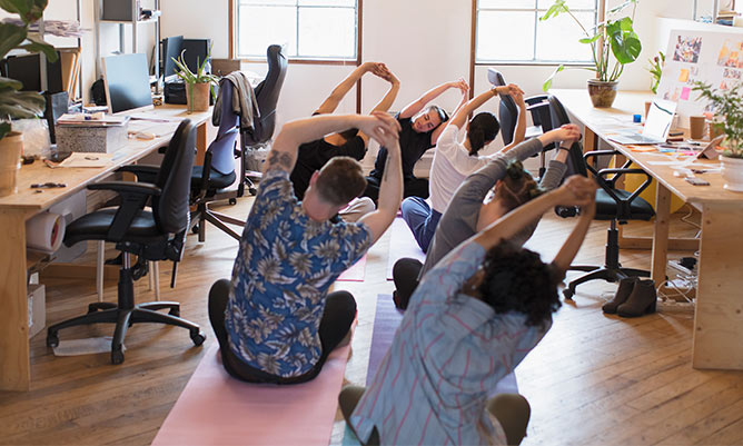 wellbeing at work yoga