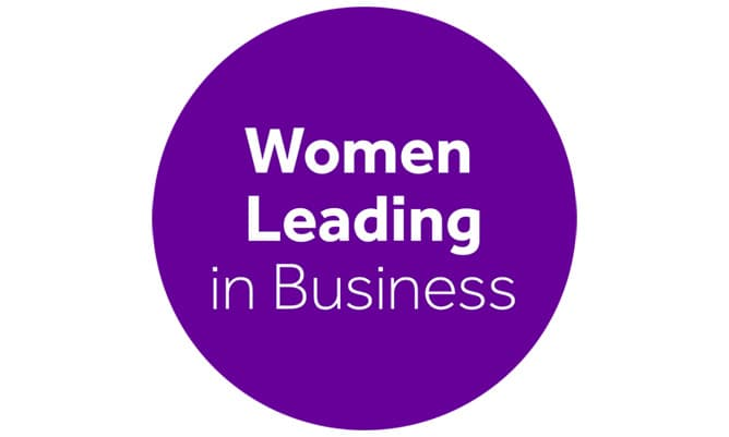 women leading in business logo