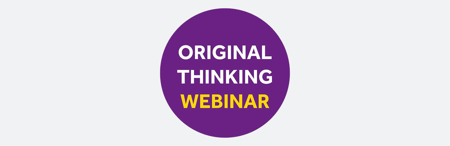 original thinking webinar logo