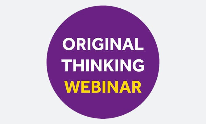 Original Thinking Webinar - Mark Healey