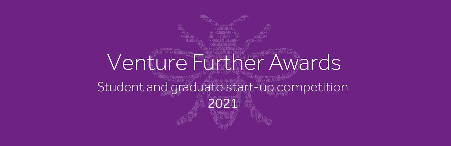 Venture Further 2021 text and bee graphic on a purple background
