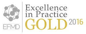 EFMD Excellence in practice gold award logo