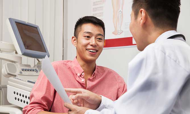 Chinese man with doctor