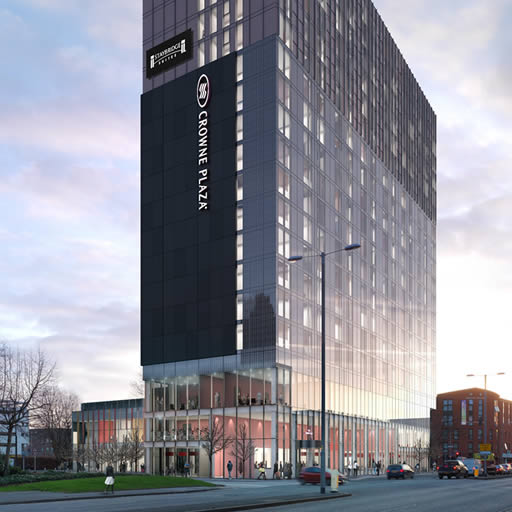 New campus hotel: Crowne Plaza and Staybridge Suites