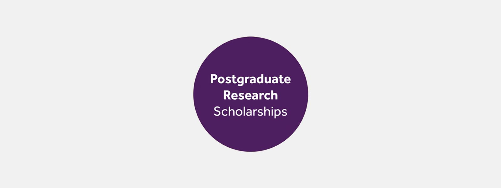 Postgraduate research scholarships for 2017