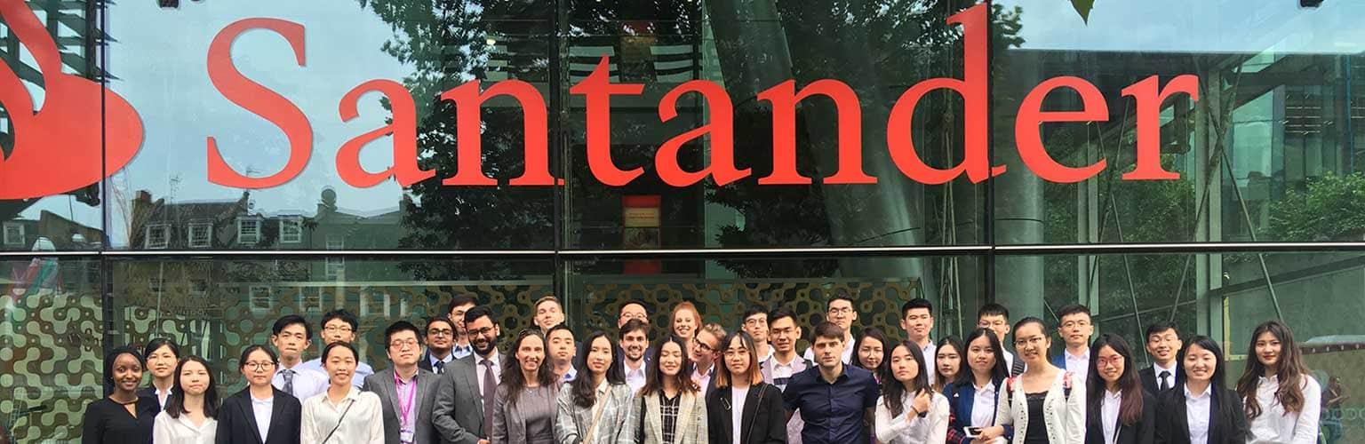 MSc Quantitative Finance students visit Santander's London