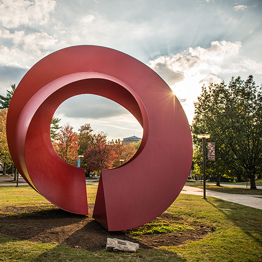 Sculpture on Kelley campus