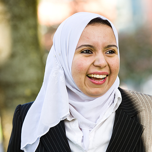 Female student wearing headscarf