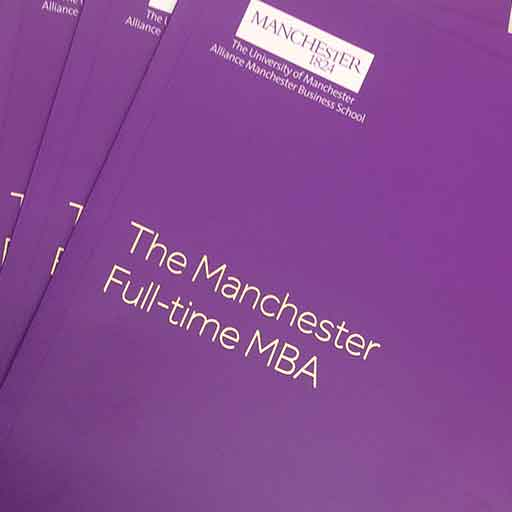Manchester Full-time MBA brochures