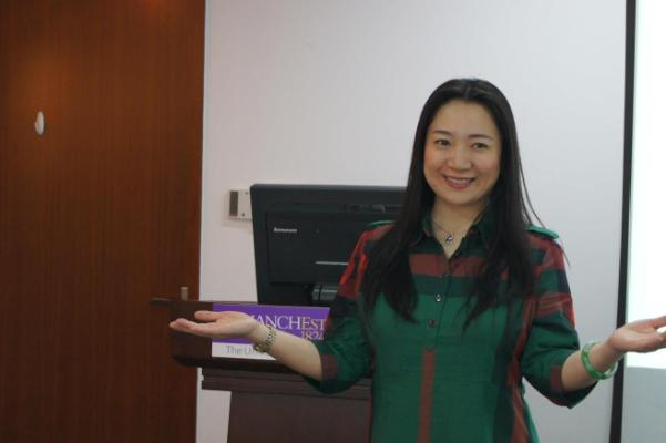 Sherry Fu at the China Centre Global MBA induction