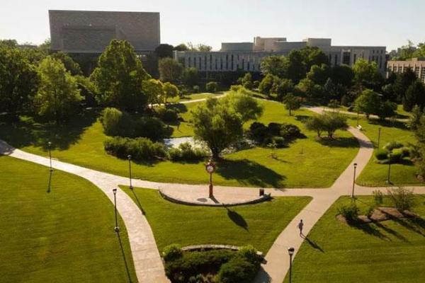 Green space at the Kelley School of Business Campus