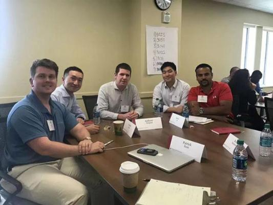 Students at the Kelley-Manchester Global MBA induction
