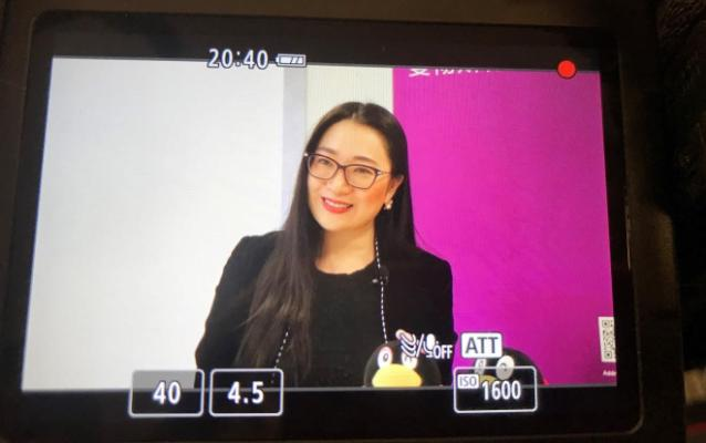 China Centre Director Sherry Fu being interviewed