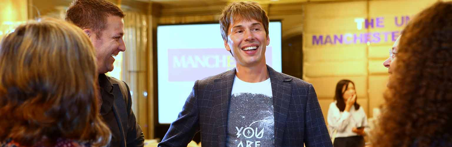 Meeting with Prof Brian Cox in Hong Kong