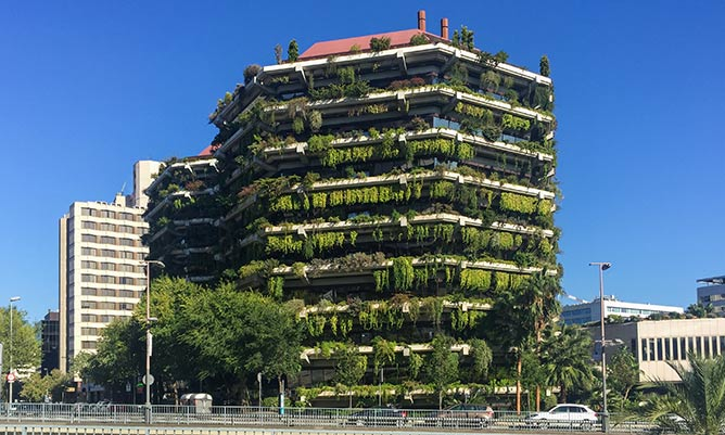 Green building in Barcelona