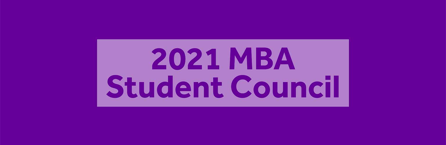 A purple background with light purple text that reads Class of 2021 Student Council