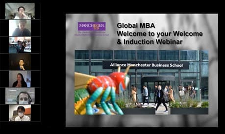 screenshot of mba webinar