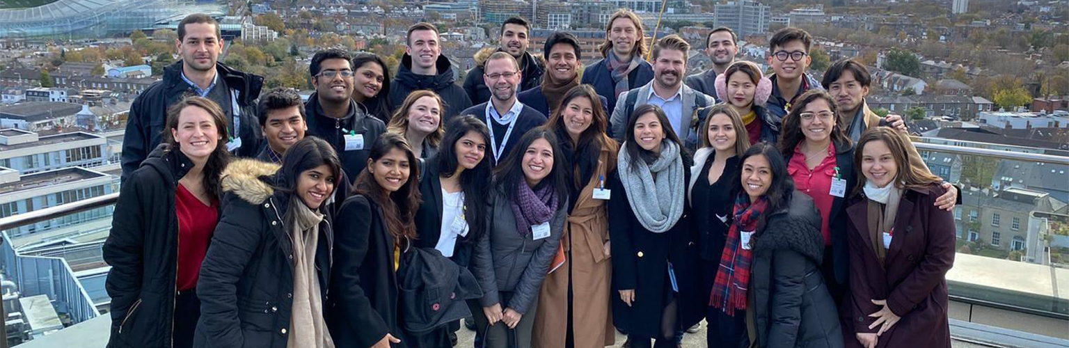 A group of Manchester  MBA students on a rooftop