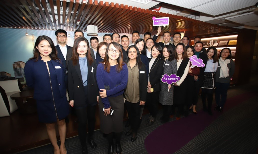 A group of students at the welcome event for the Global MBA programme in China