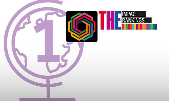 Times Higher Education Impact Ranking award logo