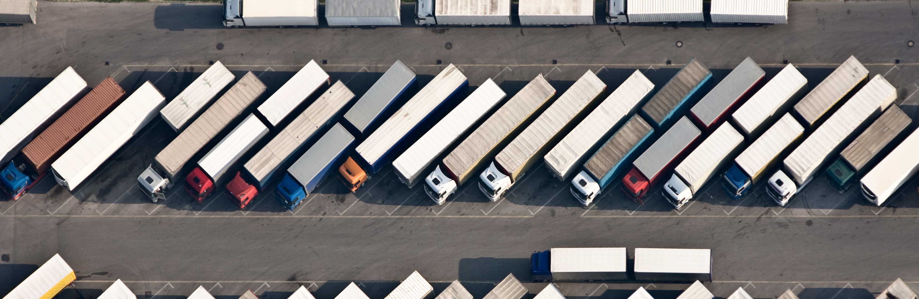 Lorry depot from above