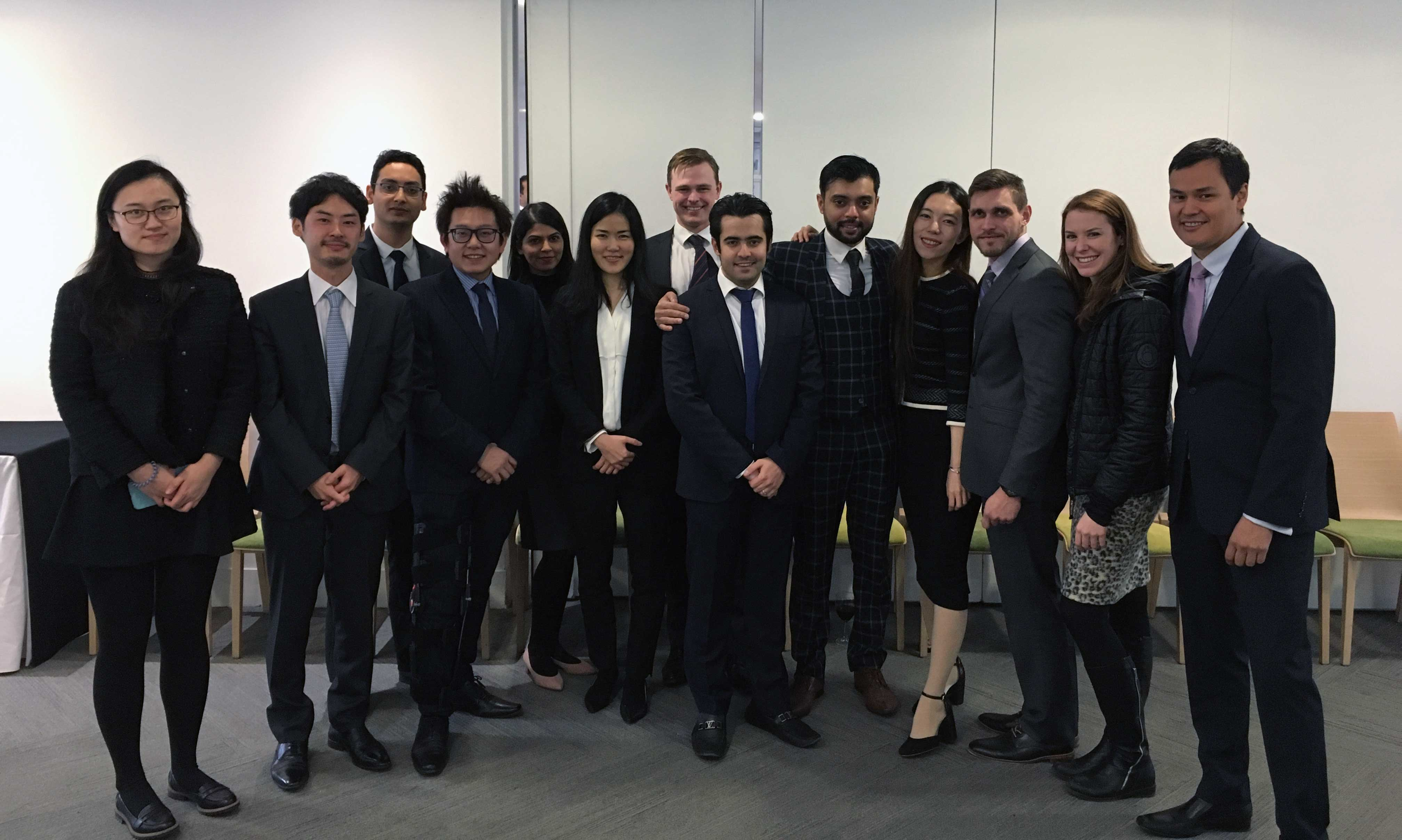 MBA students at business competition