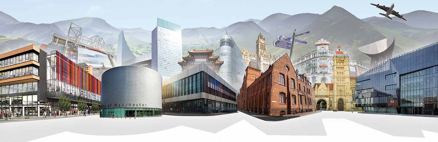 Manchester buildings collage