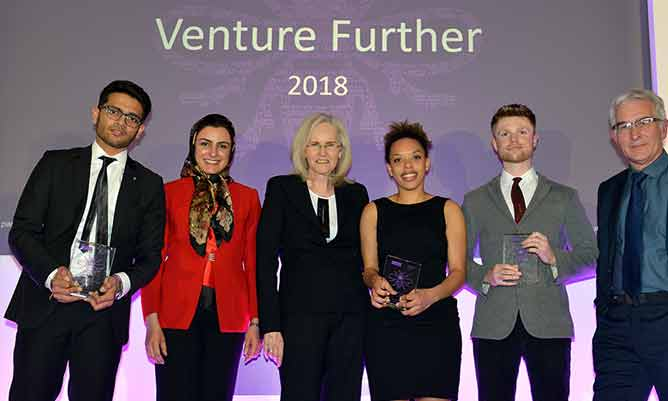 Venture Further business start-up competition 2018 winners