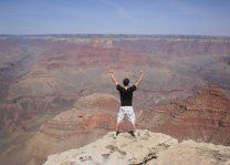 On the edge of the Grand Canyon in the USA